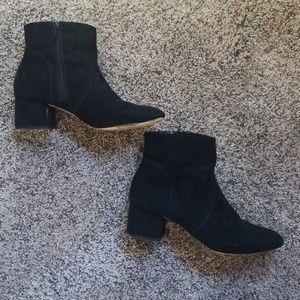Black Express Heel Booties